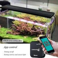 Chihiros WRGB серии аквариумный светодиодный фонарь для водных растений растет лампы серебро цвет с приложением управление Commander 4