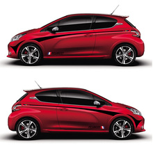 TAIYAO car styling sport sticker accessories for PEUGEOT 208 GTI  XS Special Edition Both Side Sticker Car-styling