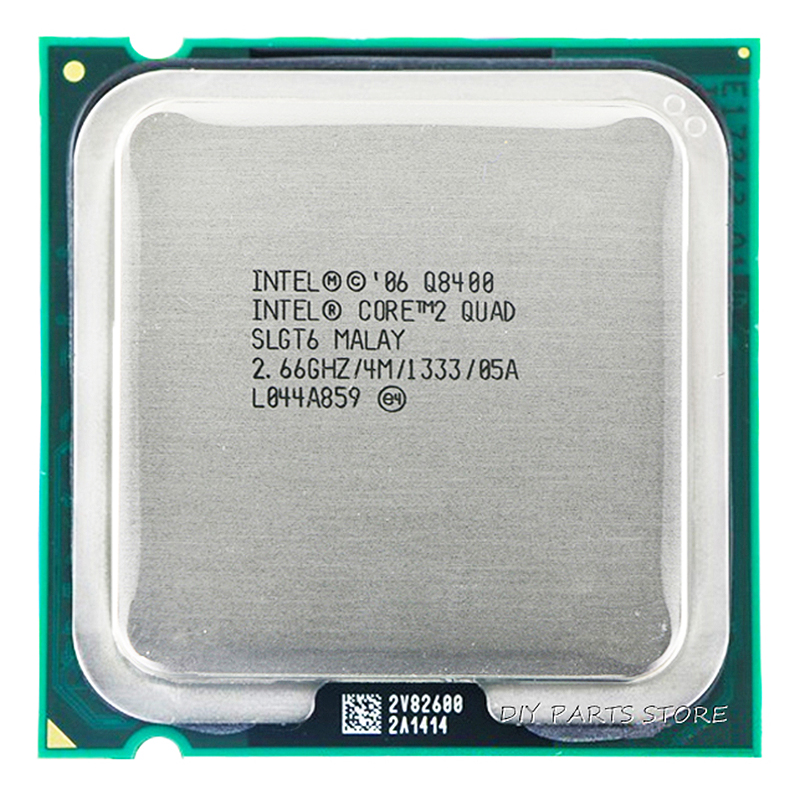 4-kjerne INTEL Core 2 Quad Q8400 CPU Prosessor 2,66 GHz / 4M / 1333GHz) Socket LGA 775