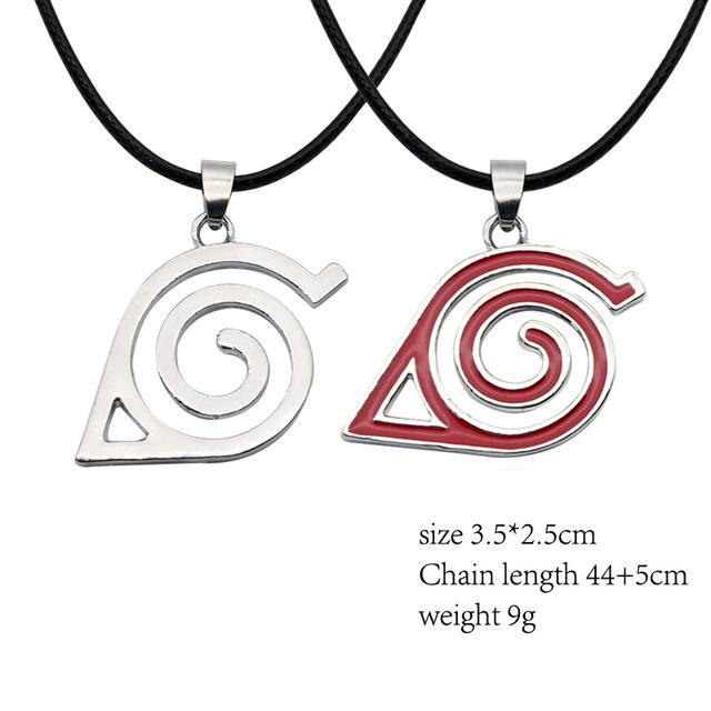 Anime Naruto Kakashi Leaf Village Symbol Cosplay Pendant Necklace