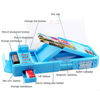 Pupils Pencil Case Children's Stationery Box School Supplies Large Capacity School Multi function Buttons Cool Changes