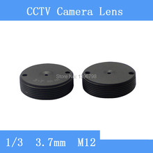 Factory direct surveillance cameras flat pinhole lens barrel 3.7mm / CCTV Lens
