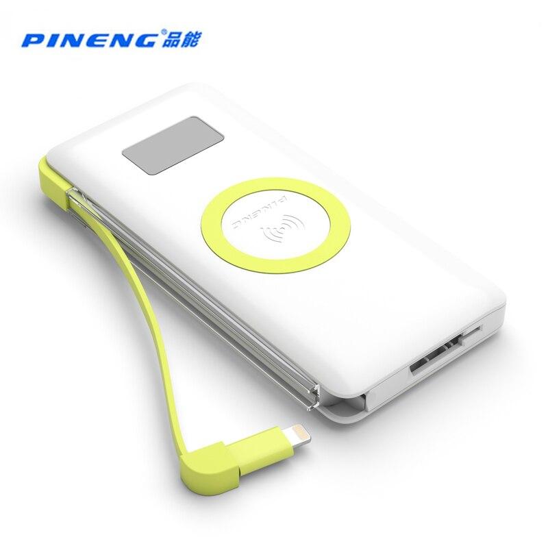 imágenes para PN-888 Pineng 10000 mah Banco de la Energía Portable Móvil de La Batería de Li-Polímero PowerBank Soporte Inalámbrico de Carga Rápida 3.0 Para iphone7