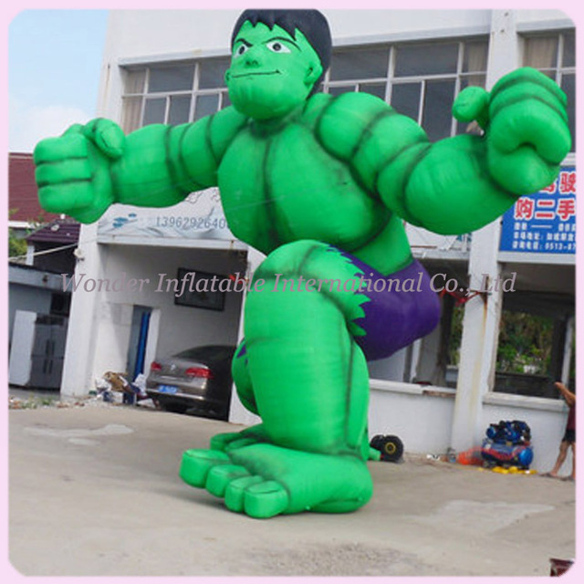 Hot selling The Avengers inflatable Captain American/inflatable the Hulk/inflatable green man cartoon model for decoration