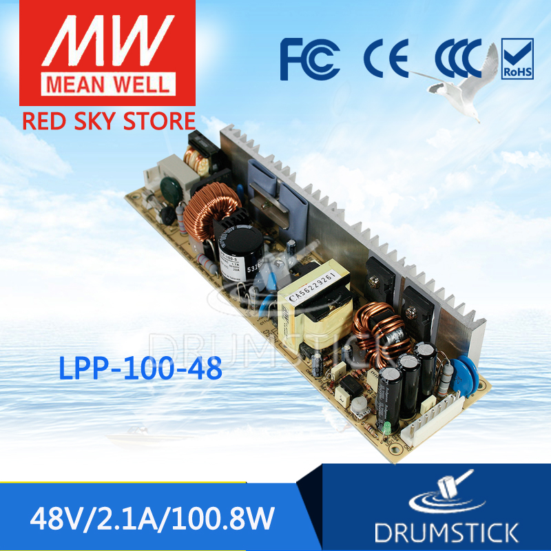 Selling Hot MEAN WELL LPP-100-48 48V 2.1A meanwell LPP-100 48V 100.8W Single Output with PFC Function selling hot mean well epp 300 48 48v 6 25a meanwell epp 300 48v 300w single output with pfc function
