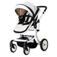 Складная коляска Детские Коляски Высокое Пейзаж высокое пейзаж сидеть и лежать коляски для новорожденного четыре колеса