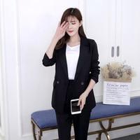 2019 Korean fashion casual ladies suit suit small suit trousers temperament two piece suit ssd61mm