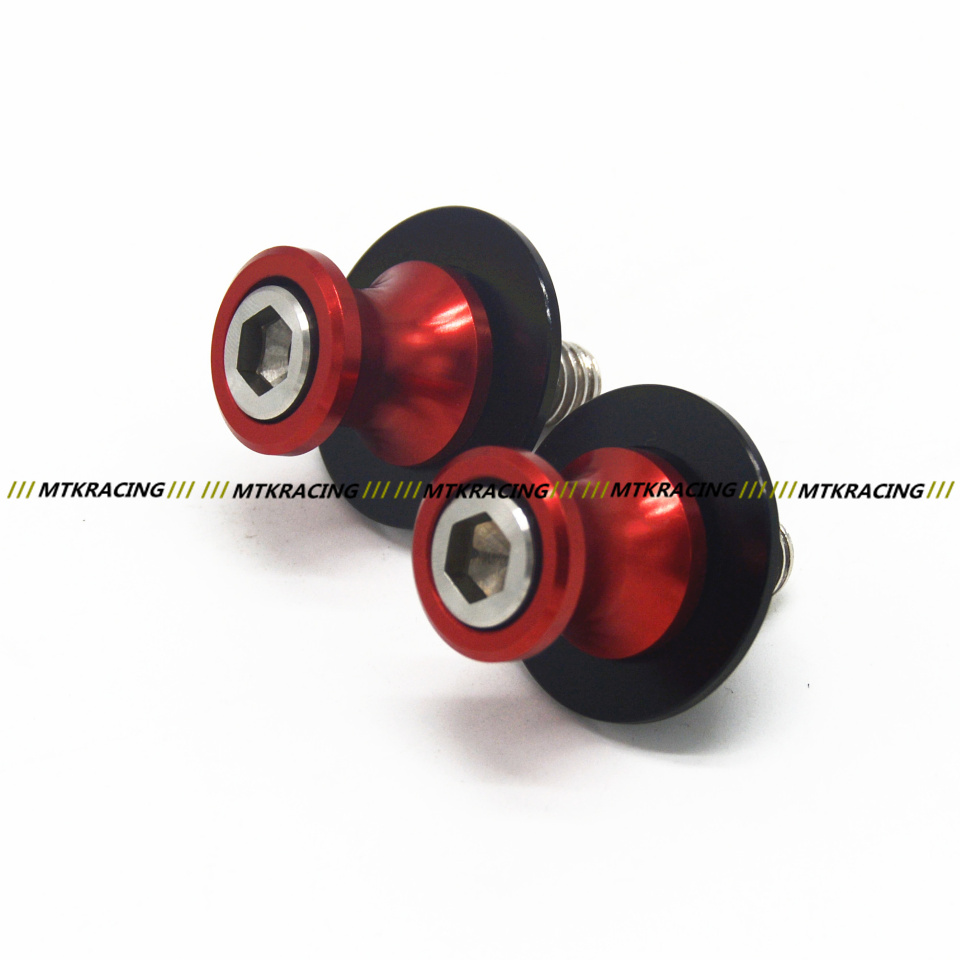 Free shipping motorcycle parts cnc 8mm swingarm spools for suzuki gsx r 1000 750 gsf1250s