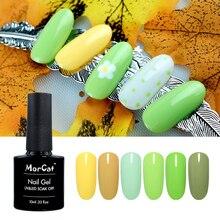 MorCat Green Nail Gel for Summer UV Polish Lacquer Art Design Avocado