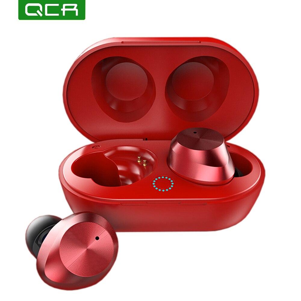 RCQ T9S Bluetooth 5.0 Fones De Ouvido fone de Ouvido Sem Fio Mini Fone de Ouvido Binaural Toque TWS fone de Ouvido Bluetooth Para Telefone Inteligente/Notebook