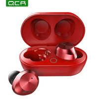 QCR T9S Bluetooth 5,0 Ohrhörer Drahtlose Kopfhörer Mini Binaural Kopfhörer Touch TWS Bluetooth Headset Für Smart Telefon/Notebook