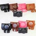 НОВЫЙ Кожаный Чехол Сумка для Фотокамеры Чехол для Canon Powershot G7x mark II G7X II G7X2 Камеры Чехол + ремень