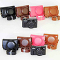 NEW Leather Case Camera Case Bag Cover for Canon Powershot G7x mark II G7X II G7X2 Camera Cover + strap