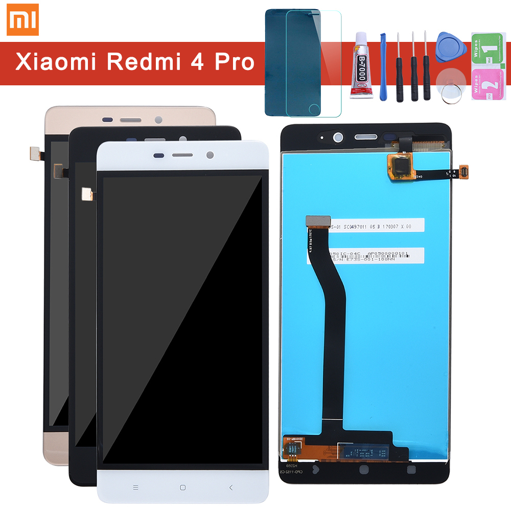 For Xiaomi Redmi 4 Pro LCD Display With Frame Screen Touch Panel Redmi 4 Prime 3GB 32GB LCD Display Digitizer Replacement Parts