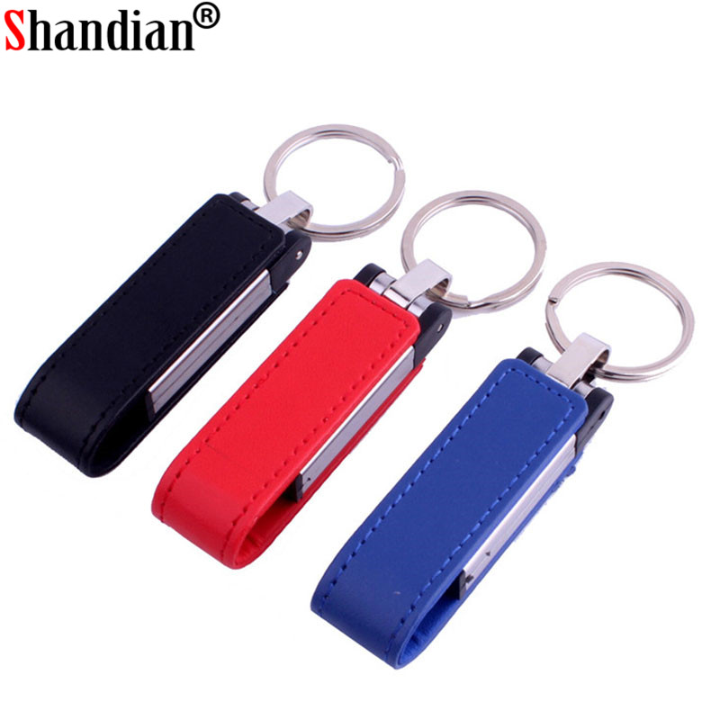 Computer & Office Shandian Creative 3 Colors Leather Usb Flash Drive 4gb 8gb 16gb 32gb Keychain Pendrive 64gb Flash Memory Stick Pen Drive