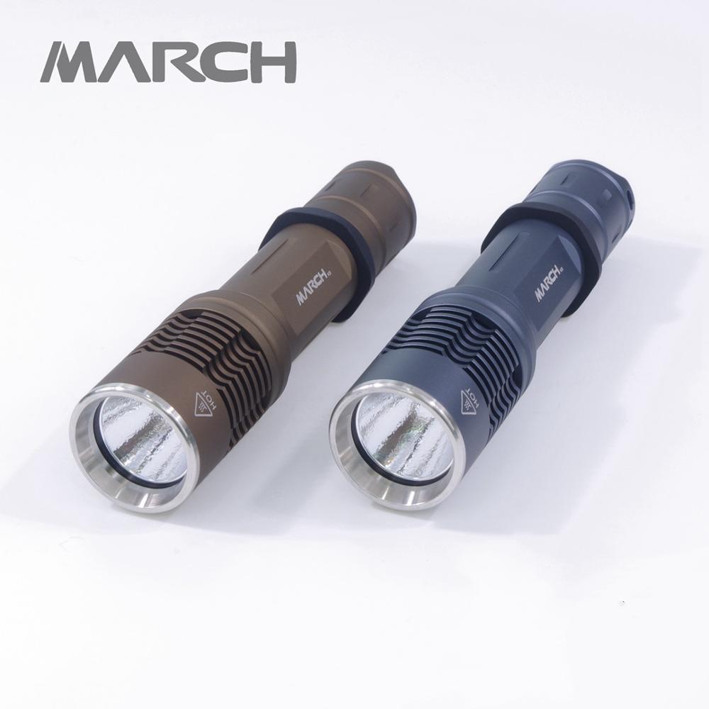 Mars K8 Cree XML XPL Luminus SST20 SST40 18650 lampe de poche à LED puissante contrôle de la température équipement de Camp éclairage nocturne