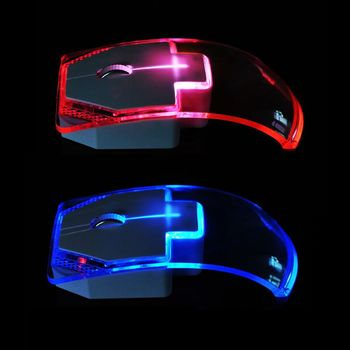 2.4G Wireless Mouse Silent Gamer Transparent LED Ultra-thin 1000DPI Glow in the Dark Gaming Mice for Notebook Desktop Computer เมาส์