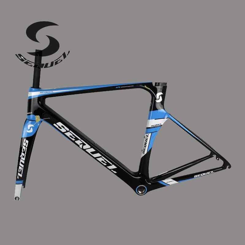 chinese carbon frames Sequel factory own brand full carbon fiber T800 road bike frame glossy /matte accept OEM order