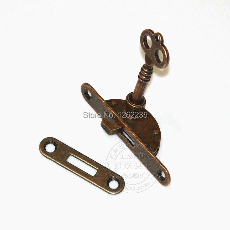 Lowest whole network Antique furniture locks Drawer Honggu Tongsuo Bronze  cabinet locks Counter lock Cabinet lock Wholesale-in Locks from Home  Improvement ... - Lowest Whole Network Antique Furniture Locks Drawer Honggu Tongsuo
