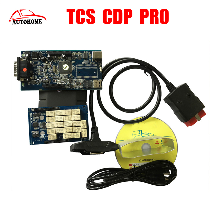 Hot sale tcs cdp pro Plus with 2015 R3 software+led cable on obd 2 for Cars& Trucks &Generic 3 in1 Without Bluetooth