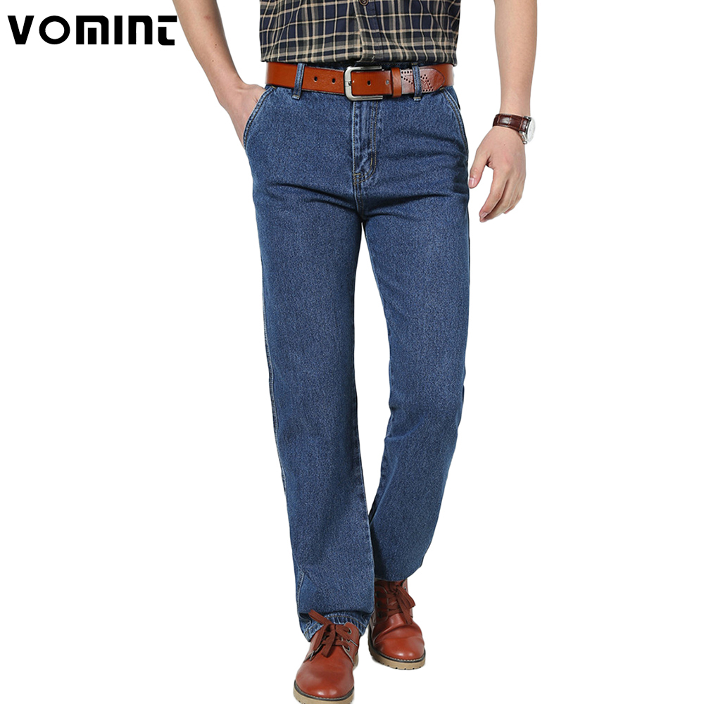 2019 New Mens Vintage   Jeans   Classic Denim Cotton Fabric 3 Color Dark Wash Casual Business Trousers Pants traditional   Jeans   Male