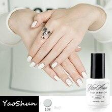 YaoShun extremidades del clavo Francés blanco color nude esmalte de uñas de gel 8 ml barniz gel soak-off de larga duración led/uv esmalte de uñas de gel