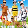 2016 Summer Kids Clothes Set Girls Boys Cosplay Costume Kindergarten Performance Animal tiger/frog/monkey/mouse Clothing Set