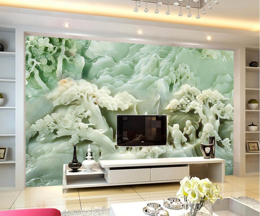 large 3d murals chinese great wall wallpaper papel de parede restaurant living room sofa tv wall bedroom wall papers home decor Chinese jade carving painting 3d wallpaper,restaurant living room TV backdrop sofa wall bedroom large murals papel de parede