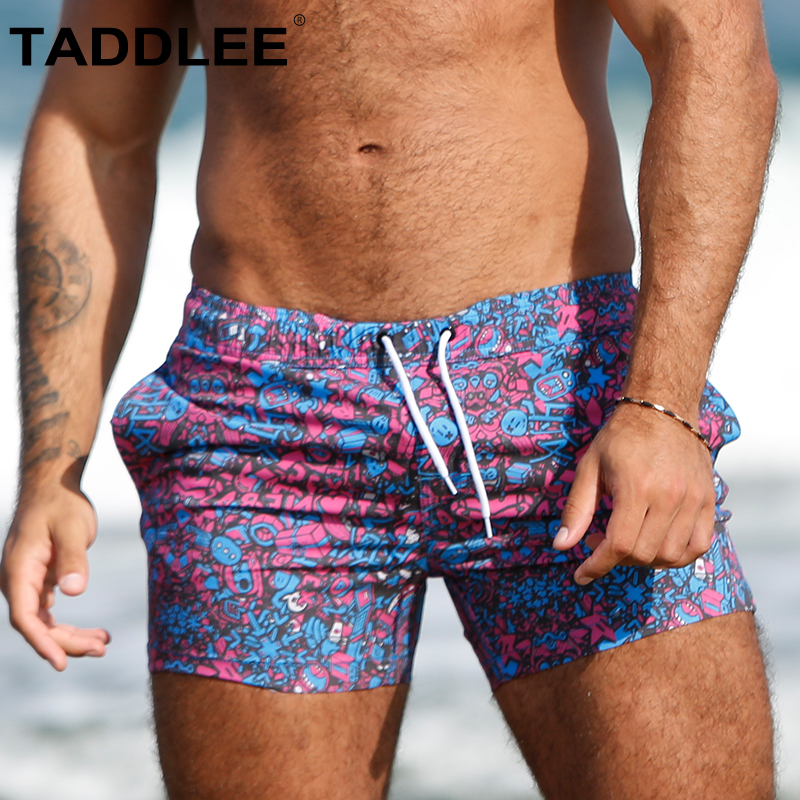 Taddlee Brand Sexy Men Swimwear Swimsuits Swimming Boxer Brief Bikini   Board     Shorts   Gay Surfing Trunks Bathing Suits Square Cut