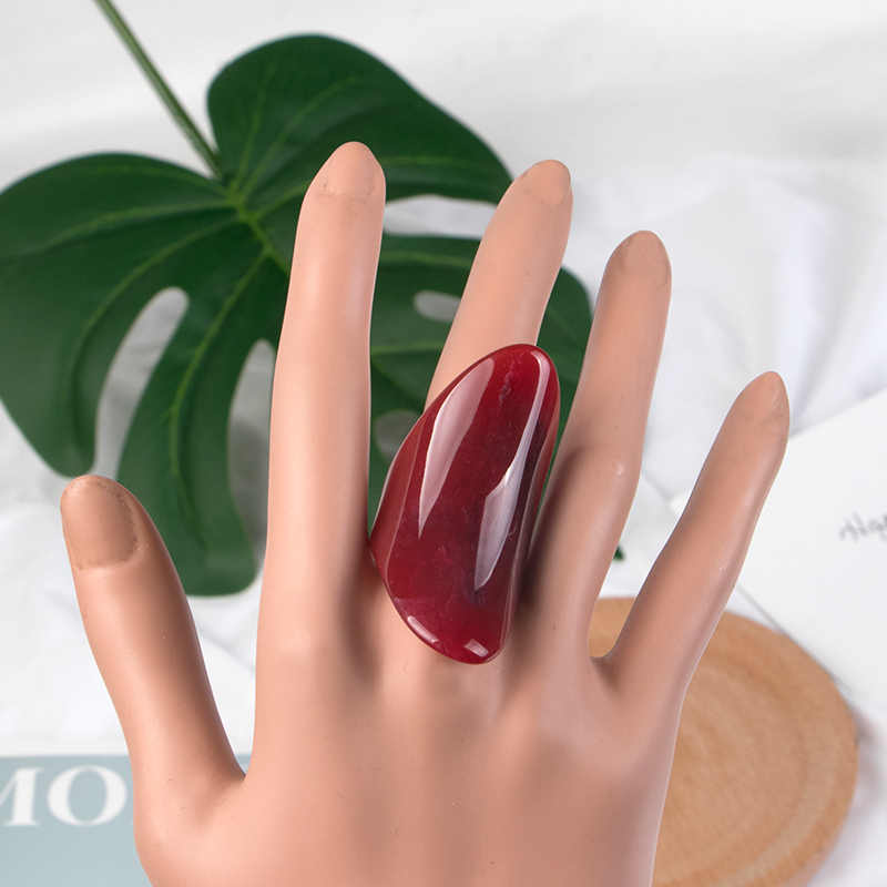 GuanLong классические геометрические персональные большие красивые кольца из смолы для женщин, модные ювелирные изделия в стиле панк, большие кольца для девочек, оптовая продажа