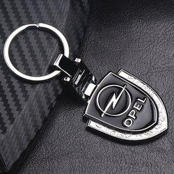 Car Styling 3D metalowy samochód brelok do kluczy z obręczą brelok Logo dla opla Corsa Insignia Astra Antara Meriva Zafira|Kółka do kluczy|   -