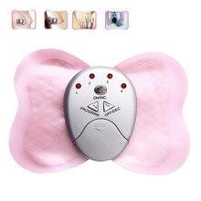 Mariposa masajeador eléctrico almohadillas de terapia de choque vibrador cuerpo ABS entrenador muscular estimulador masaje Cuidado de la salud la pérdida de peso de la cintura