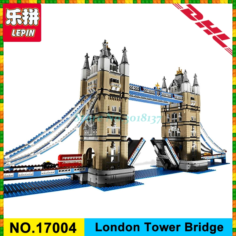IN--STOCK Free Shipping New LEPIN 17004 4295pcs London bridge Model Building Kits Brick Toys Compatible 10214