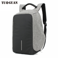 TUGUAN Fashion Men USB Charging 14 Inches Laptop Backpacks Multifunction Waterproof Anti Theft Back Pack For
