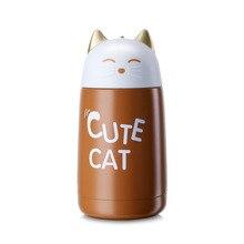 330ml New Thermos Cup Cartoon Moe Cat Thermo Mug Drinkware Kids Water Bottle Stainless Steel Vacuum