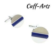Cuffarts Cufflinks Round 2018 Fashion Men Cuff Links Jewelly Luxury Shirt Cufflinks Brand Cuff Button For Men C20114 dy new high end cufflinks luxury design silver fashion men s shirts cuff button round trendy purple crystal cufflinks whlesale