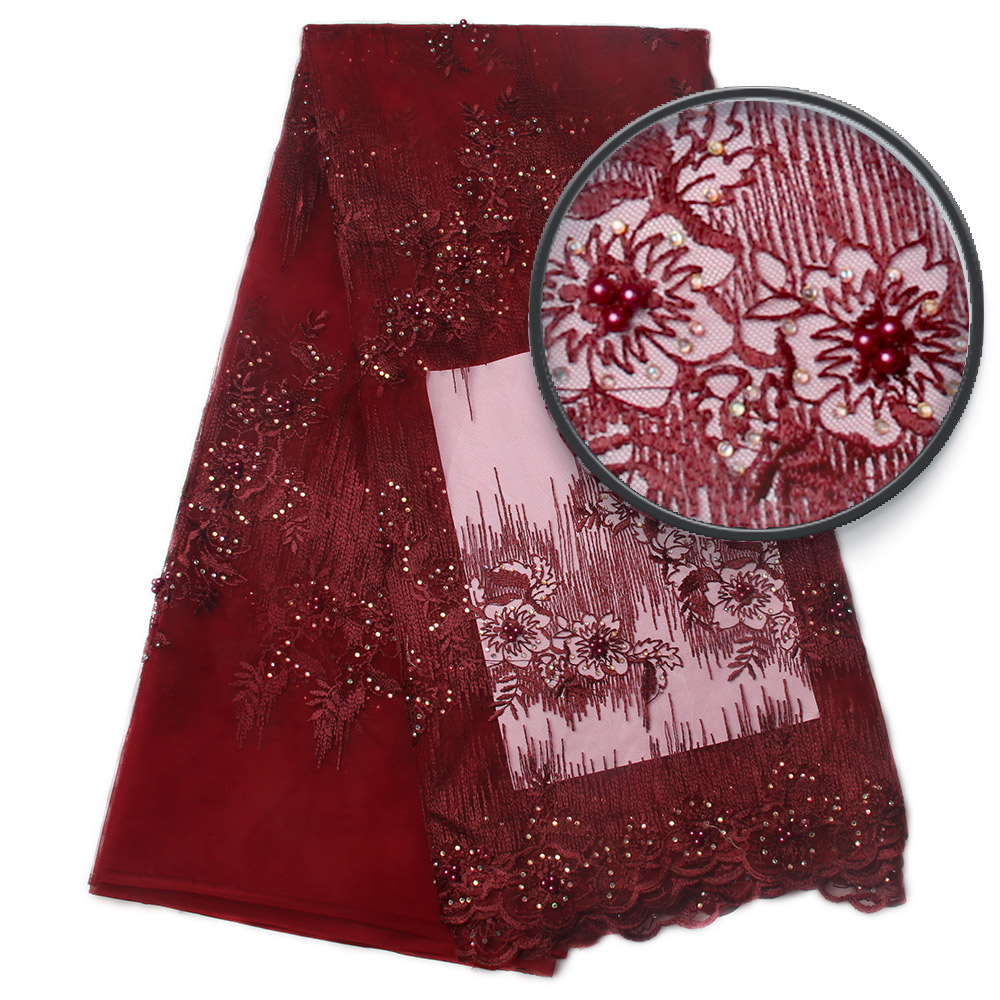 Srebrny szary haftować tkanina z koronki, afryki ślubne koronki materiałów, peruka afrykańska typu swiss Lace tkaniny wysokiej jakości MR830b w Koronka od Dom i ogród na  Grupa 3