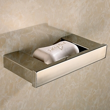 high quality 304 stainless steel polished soap dish hotel family soap holder bathroom accessories