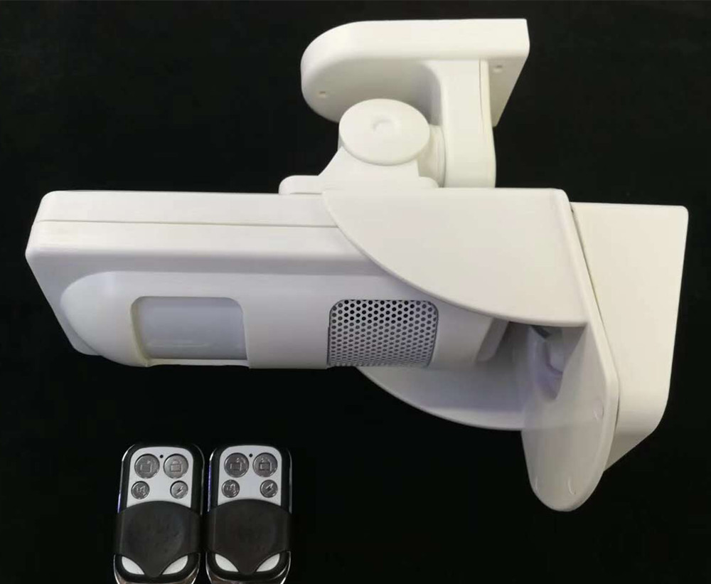 Outdoor Impermeabile Solare Sistema di Allarme Pet Immune PIR Sensore Promemoria (Suono e Flash quando L'allarme) + 2 pz Telecomando Specif - 2
