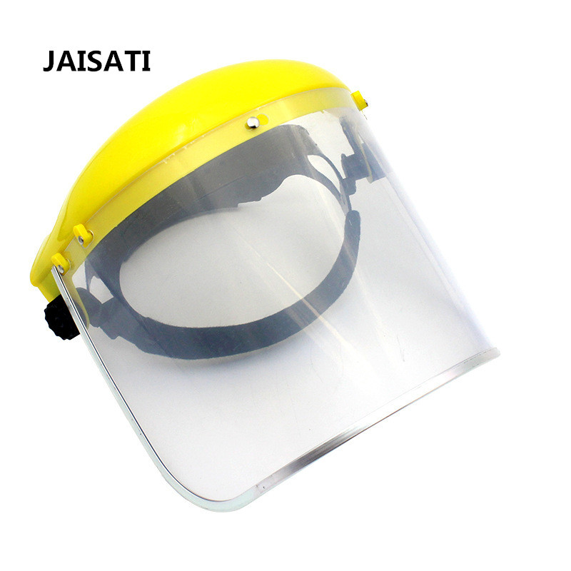 JAISATI Organic protective face screen transparent closed head protective mask Plexiglass face dust mask jaisati transparent dust proof welding hood headset mask abor protection protection surface screen splash mask