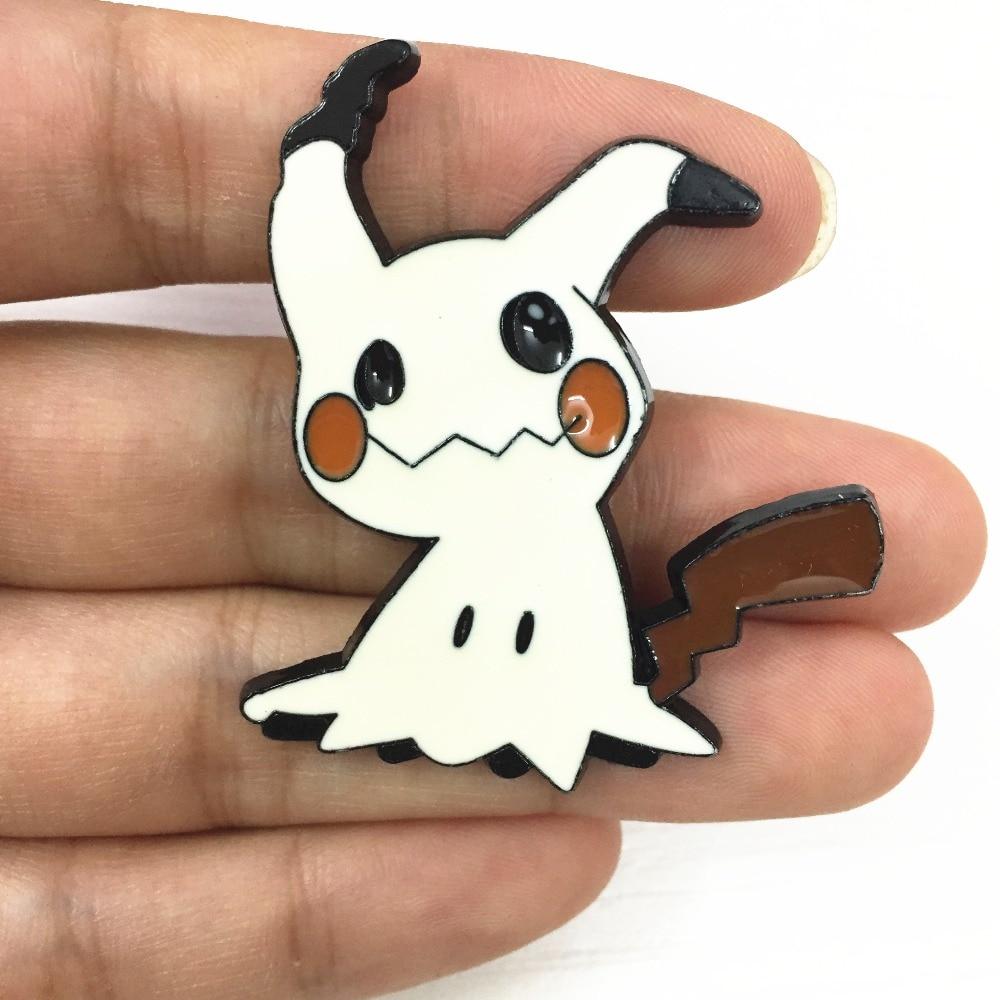 1 Piece Cute Janpanese Anime Pocket Monster Mimikyu Badge Metal Pins Alloy Gift Figure Toys