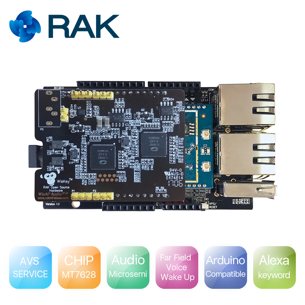 Q178 WisCore Open Source Hardware Module Built in Amazon AVS Function Compatible with Raspberry Pi IOT Gateway Module wiscore open source hardware module built in amazon alexa voice service function compatible with raspberry pi arduino microsemi