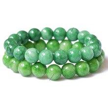 Bracelet Natural Stone Green Stone Jewelry Bracelets For Women Diy Handmade Love Gift Strand Beaded Bracelet for Women