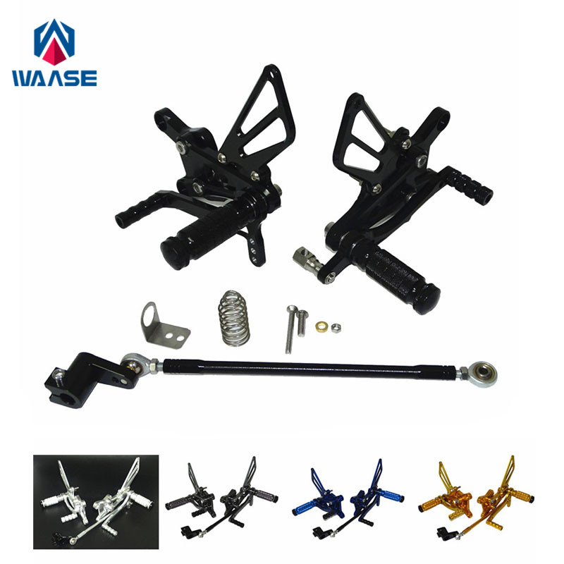 waase CBR 600 F4i Rider Racing Rearset Rear Sets Footrests Foot Rest Pegs For Honda CBR600F4i 2001 2002 2003 2004 2005 2006 2007 купить