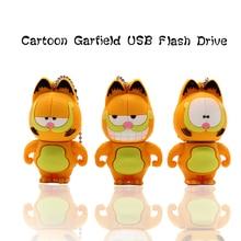 100% Real capacity pen drive cartoon Garfield flahs 4GB 8GB 16GB 32GB 64GB memory disk creative gift pendrive usb stick