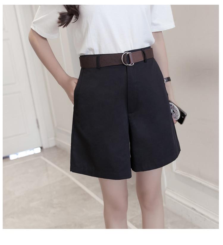 Casual Women Shorts A-line High Waist Slim Summer Shorts 6