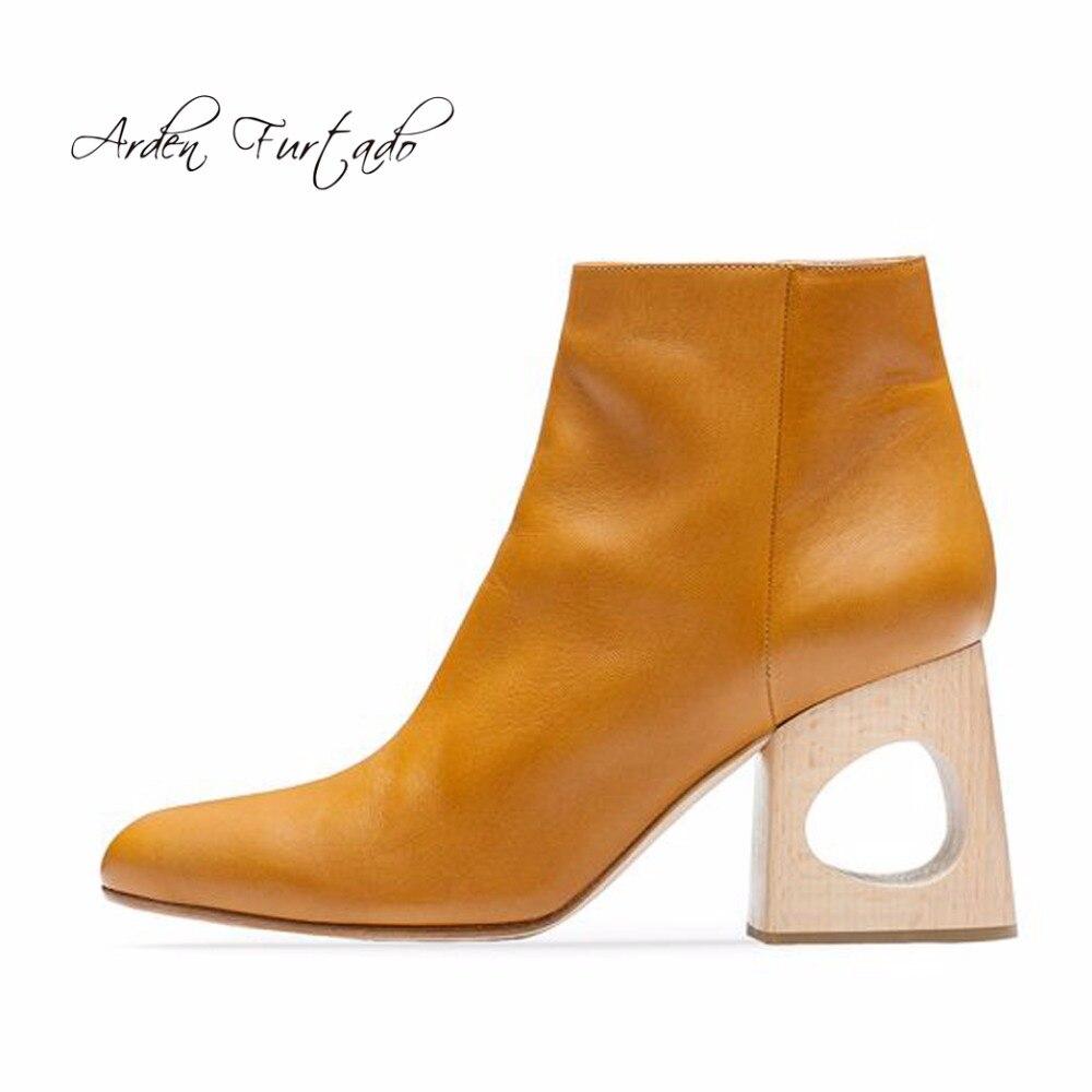 en cuir jaune bottes d'hiver promotion-achetez des en cuir