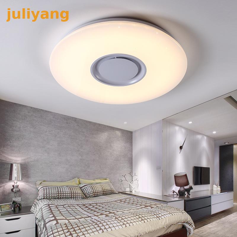 Plafonnier LED multicolore et Dimmable avec APP Bluetooth et haut-parleur sonore pour salon, chambre, chambrePlafonnier LED multicolore et Dimmable avec APP Bluetooth et haut-parleur sonore pour salon, chambre, chambre