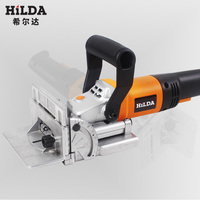 HILDA 760W Biscuit Jointer Electric Tool Authentic Woodworking Tenoning Machine Biscuit Machine Puzzle Machine Groover Copper