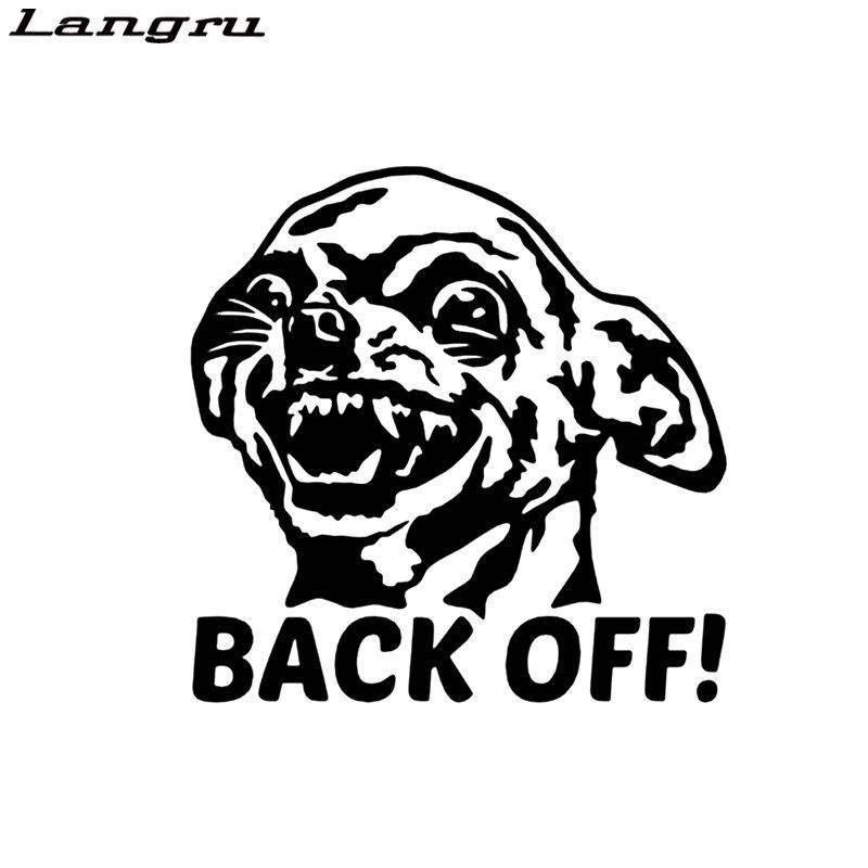 Chihuahua Back Off Car Sticker